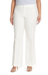 Plus Size Women's Vince Camuto Flare Leg Stretch Cotton Pants New Ivory