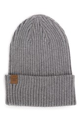 Herschel 'Cast' Knit Cotton Beanie Grey