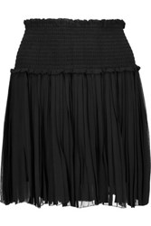 Etoile Isabel Marant Arielle Pleated Georgette Mini Skirt Black