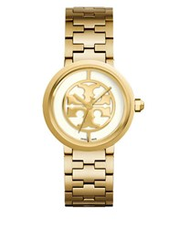 Tory Burch Reva Logo Dial Bracelet Watch Gold