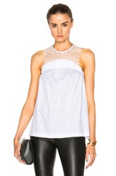 Marissa Webb Mercer Lace Top In White