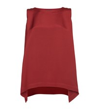 Eskandar Long A Line Silk Top Female Red