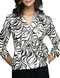 Alex Evenings Swirl Wrap Jacket Black