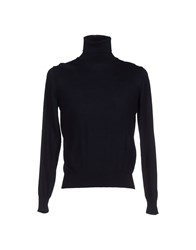 Della Ciana Knitwear Turtlenecks Men Dark Blue