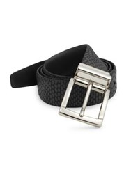 Saks Fifth Avenue Iguanna Embossed Leather Belt Black