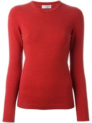 Brunello Cucinelli Elbow Patch Sweater Red
