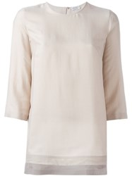 Brunello Cucinelli Long Length Blouse Nude And Neutrals
