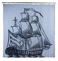 Thomas Paul Thomaspaul Galleon Shower Curtain