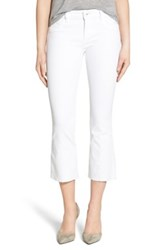 Dl1961 'Lara' Raw Edge Crop Flare Jeans Porcelain White