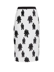 Balenciaga Floral Silk Blend Cloque Skirt