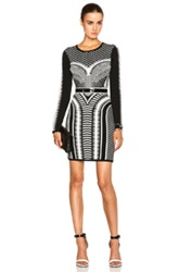 Sass And Bide A Thousand Sacraments Dress In Black Abstract