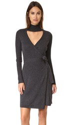 Diane Von Furstenberg Janeva Sweater Dress Charcoal