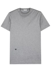 Christian Dior Grey Bee Embroidered Cotton T Shirt