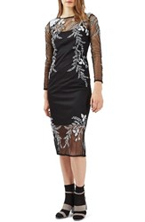 Topshop Women's Embroidered Midi Dress