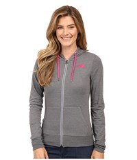 The North Face Lite Weight Full Zip Hoodie Tnf Medium Grey Heather Cabaret Pink Women's Sweatshirt Gray