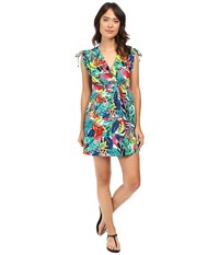 Lauren Ralph Lauren Rainforest Tropical Farrah Dress Cover Up Multi Women's Swimwear