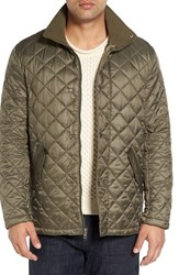 Cole Haan Men's Diamond Quilted Jacket Olive