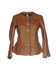 High Coats And Jackets Jackets Women Brown