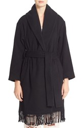 Alexander Wang Women's T By Fringe Shawl Collar Blanket Coat