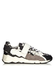 Pierre Hardy Comet Camocube Print Low Top Trainers Black Multi