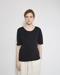 Black Crane Back Seam Tee