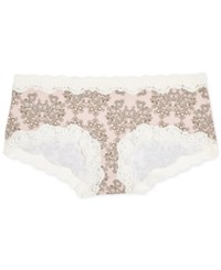 A Pea In The Pod Maternity Lace Trim Girl Shorts Pink Floral