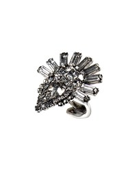 Dylanlex Fox Crystal Statement Ring Silver