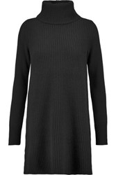 Madeleine Thompson Lyle Ribbed Wool And Cashmere Blend Mini Sweater Dress Black