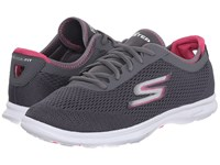 Skechers Go Step Sport Charcoal Pink Women's Walking Shoes