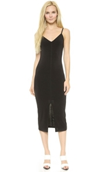 Air By Alice Olivia Strapped Sheer Back Midi Dress Black