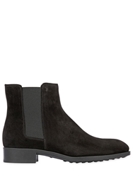 Tod's 25Mm Suede Ankle Boots Black