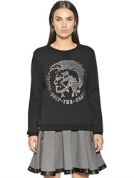 Diesel Mohican Cotton Blend Jersey Sweatshirt