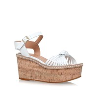Carvela Katrina Mid Wedge Heel Sandals White