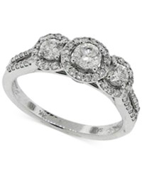 Macy's Diamond Halo Engagement Ring 1 1 2 Ct. T.W. In 14K White Gold No Color