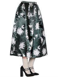 Rochas Floral Printed Duchesse Skirt