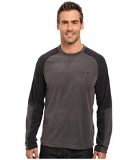 Mountain Hardwear Microchill Lite Long Sleeve Crew Shark Men's Long Sleeve Pullover Gray