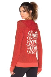 Spiritual Gangster Peace Love Yoga Flourish Savasana Beach Hoodie Red