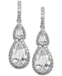 Arabella Swarovski Zirconia Teardrop Earrings In Sterling Silver