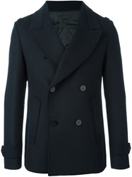 Wooyoungmi Double Breasted Peacoat Blue