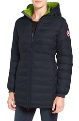 Canada Goose Women's 'Camp' Slim Fit Hooded Packable Down Jacket Ink Blue Firefly