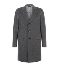 Tom Ford Herringbone Overcoat Male Grey