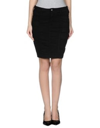 Guess Jeans Knee Length Skirts Black