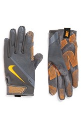 Nike Men's 'Lunatic' Training Gloves Grey Orange