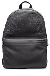Neil Barrett Leather Backpack Black