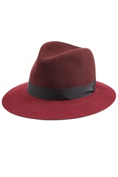 Rag And Bone Rag And Bone Wool Fedora Red