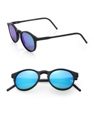 Kyme Miki 48Mm Round Sunglasses Black Blue
