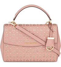 Michael Michael Kors Ava Small Saffiano Leather Satchel Peach Pgold