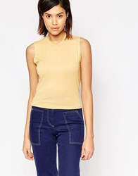 Tired Of Tokyo Sleeveless High Neck Top Yellow