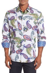 Robert Graham Men's Big And Tall 'Apple Valley' Classic Fit Paisley Print Sport Shirt