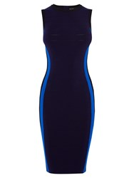 Karen Millen Side Bandage Knit Dress Navy
